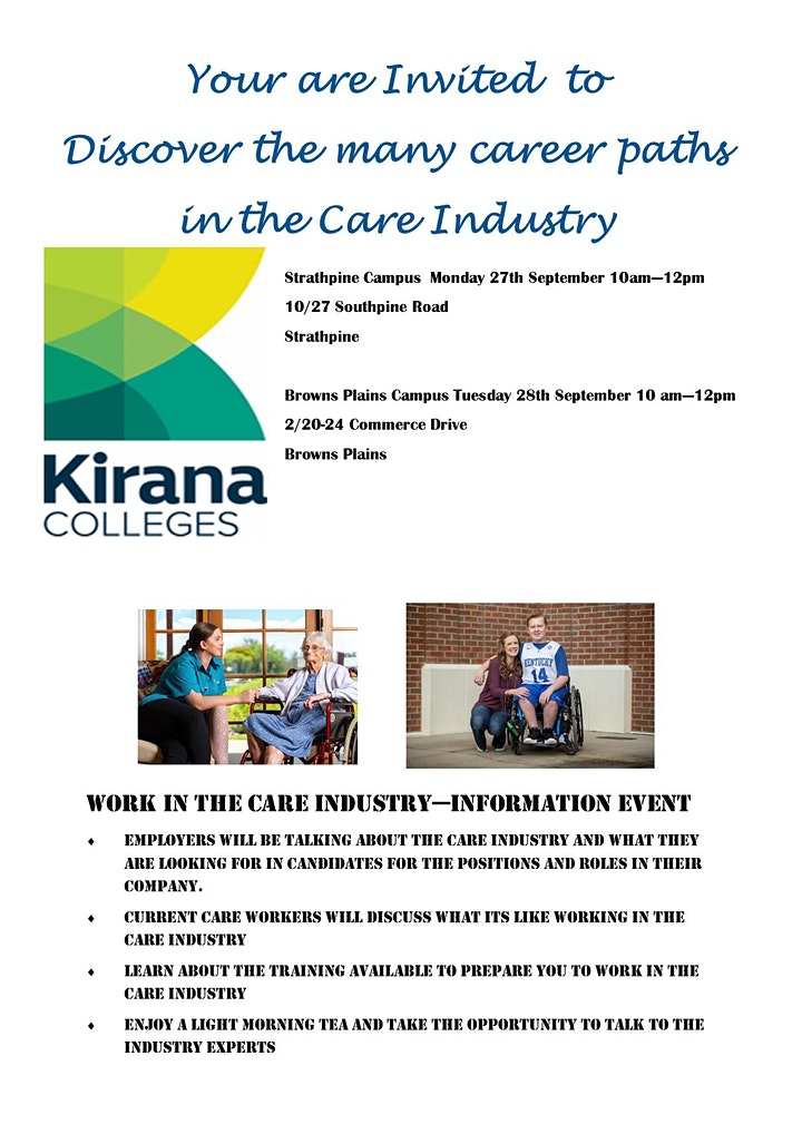 Work  in the Care Industry Morning Tea image