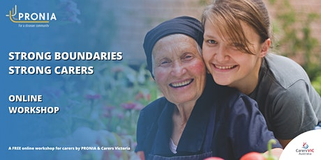 Strong Boundaries Strong Carers - A workshop for carers tickets