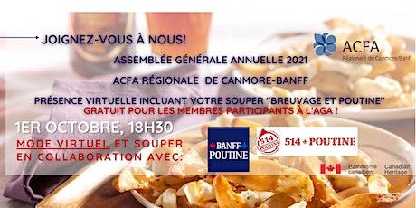 "AGA virtuelle 2021 _ Soirée ""Breuvage & Poutine "" tickets"