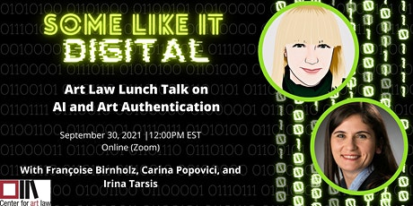 Art Law Lunch Talk: AI and Art Authentication tickets