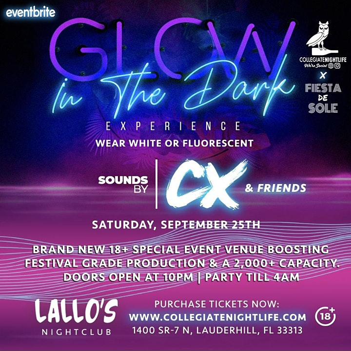 GLOW IN THE DARK EXPERIENCE @ LALLOS image