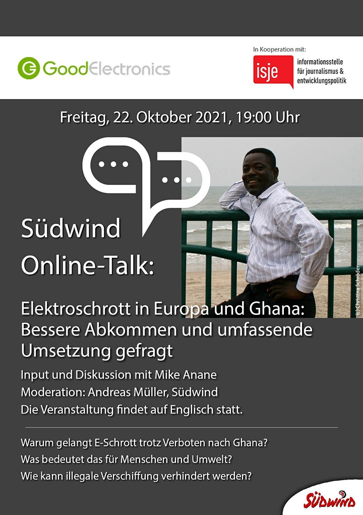 Südwind Online-Talk: Electronic Waste in Europe and Ghana: Bild