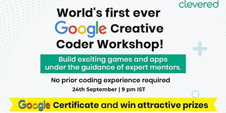 Free Google Creative Coder workshop for Kids entradas