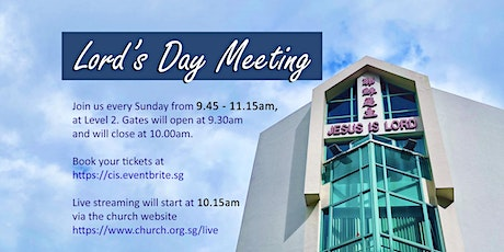 26 SEP 2021 -  9.45AM Lord's Day Meeting tickets