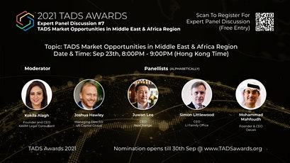 TADS Awards : Expert Panel Discussion #7–TADS Market Opportunities in MENA tickets