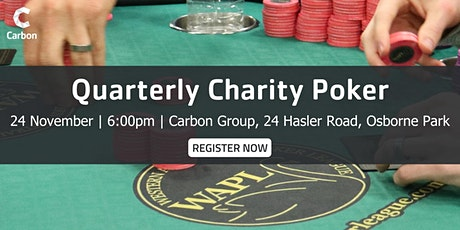 Carbon's Quarterly Charity Poker Night tickets