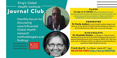 King's Global Health Institute: Journal Club tickets