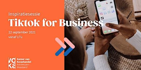 Tiktok for Business tickets