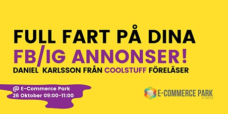 CoolStuff gästar & pratar Facebook annonsering!  tickets