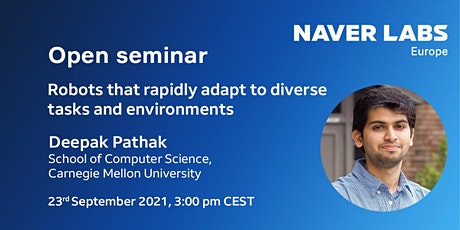 Seminar: Robots that rapidly adapt to diverse tasks and environments tickets