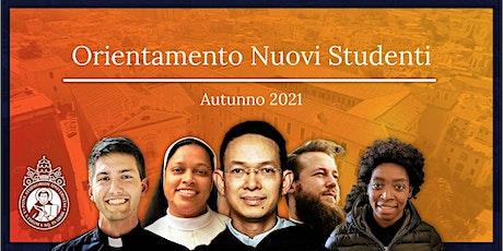 Orientamento dei nuovi studenti 2021 / New Student Orientation 2021 biglietti