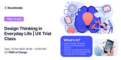 Design Thinking for Everyday Life | UX Trial Class tickets