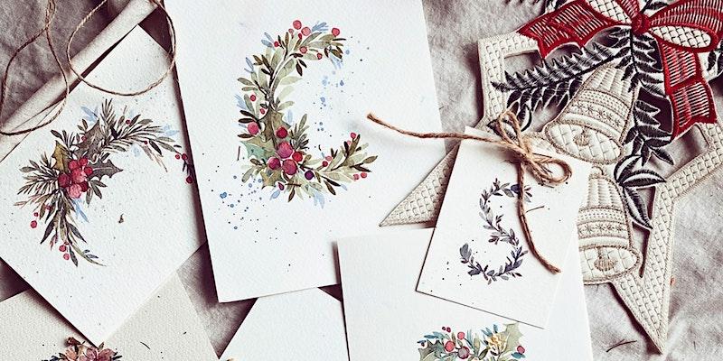 Floral Letters Watercolour (Christmas Edition) Workshop