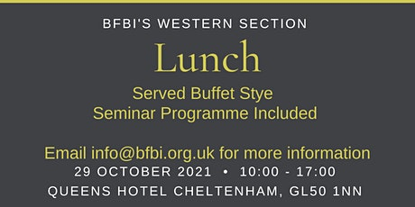 BFBi Western Section Morning Seminar & Lunch tickets