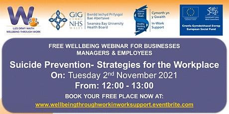 Suicide Prevention- Strategies for the Workplace tickets
