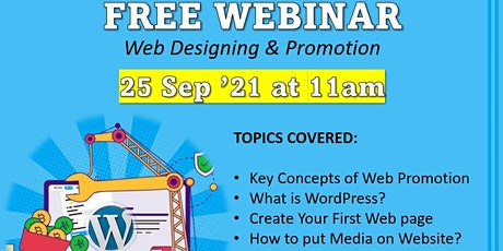 Free Webinar on Website Designing and Promotion by Intellisoft Training tickets