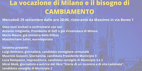 La vocazione di Milano e il bisogno di cambiamento biglietti