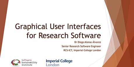 Graphical User interfaces for Research Software tickets