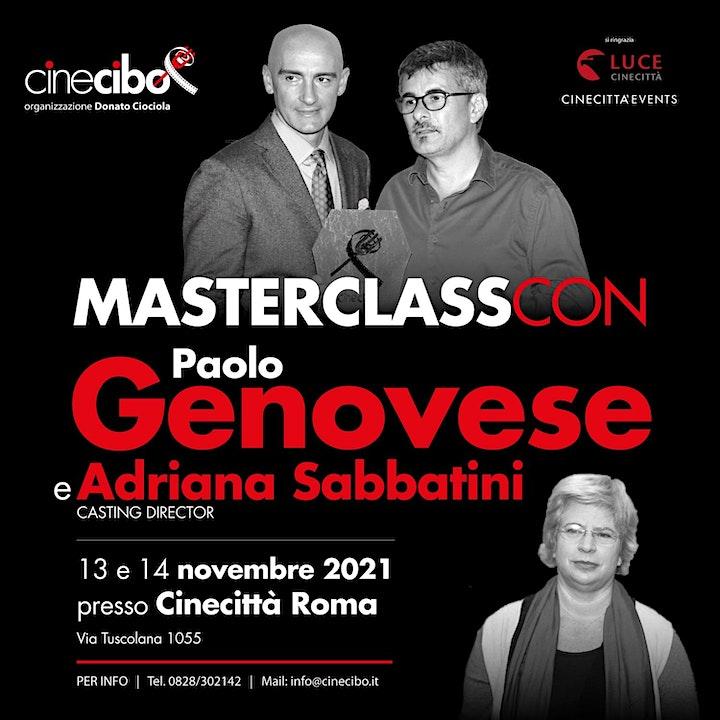 Immagine A Cinecittà l'attesa Masterclass Cinecibo con Paolo Genovese e la casting