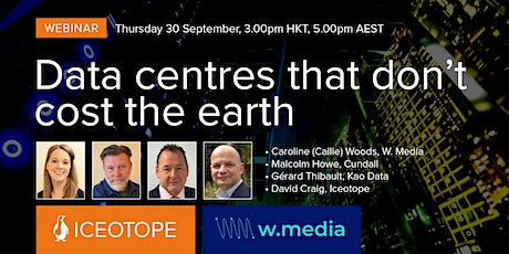 Webinar   Data centres that don't cost the earth tickets