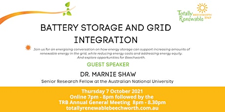 Community Conversation - Battery storage and grid integration tickets