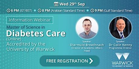 MSc Diabetes: University of Warwick - Info Webinar - Sep 2021 tickets