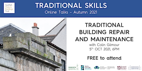 Traditional Building Repair and Maintenance - Jedburgh and Hawick CARS tickets
