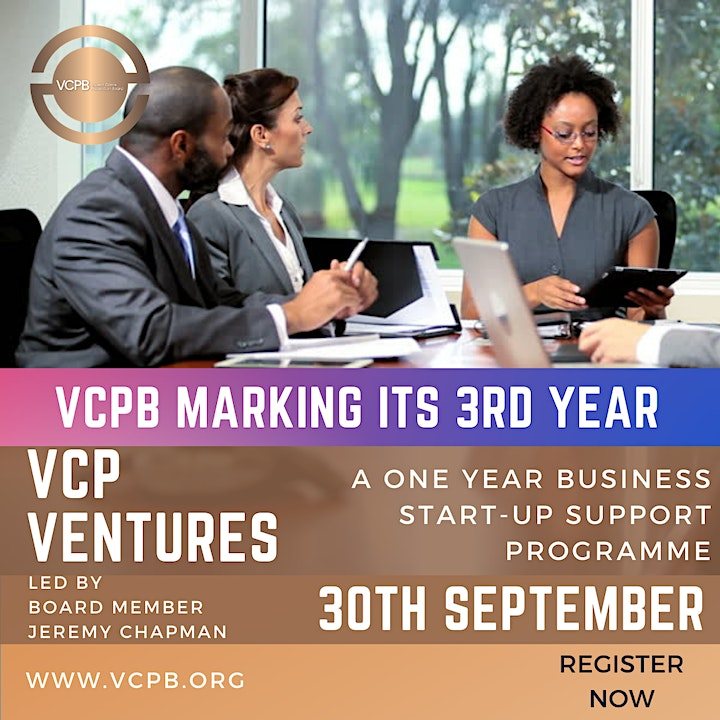VCPB marking its 3rd year VCP VENTURES: business start-up support programme image