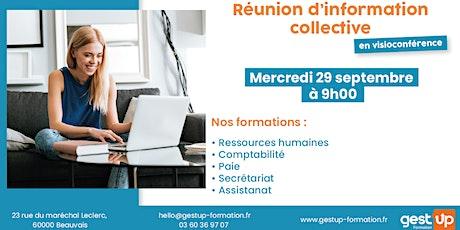 Gest'up visio - Réunion d'information collective billets