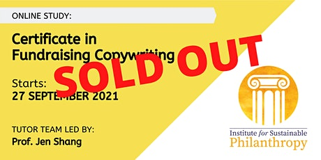 SOLD OUT - Certificate in Fundraising Copywriting (September 2021) tickets