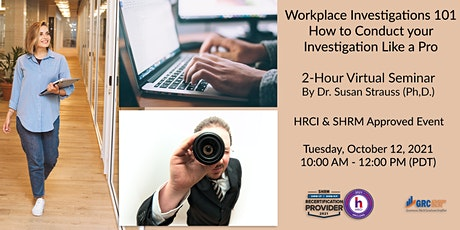2-Hour Virtual Seminar on Workplace Investigations 101 tickets