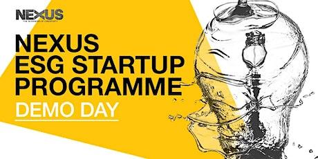 DEMO DAY: NEXUS ESG Startup Programme 2021 (Cohort 1) tickets