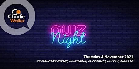 Charlie Waller Trust Quiz Night tickets