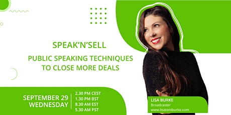 Speak'n'Sell - Public speaking techniques to close more deals tickets