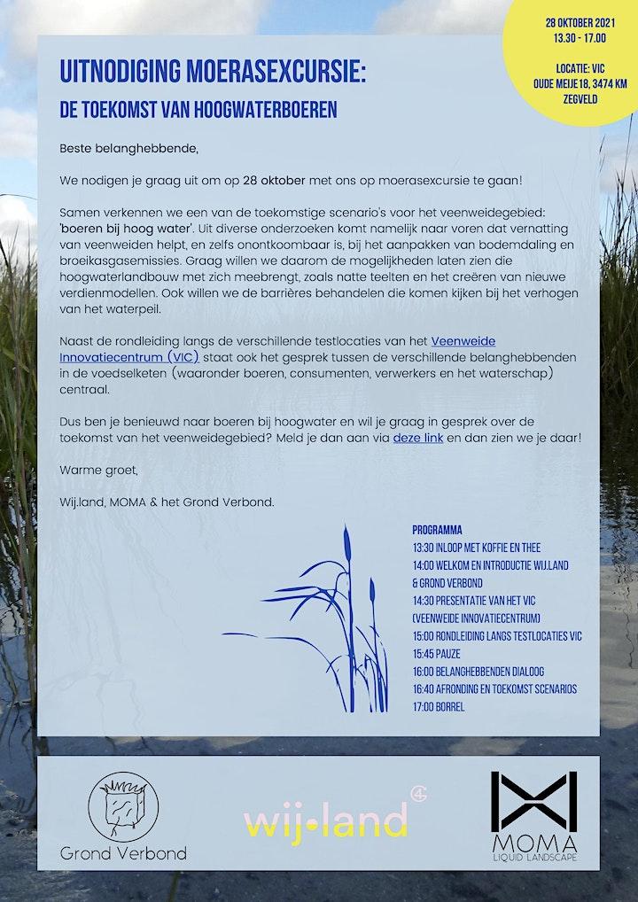 Afbeelding van Moerasexcursie: de toekomst van hoogwaterlandbouw