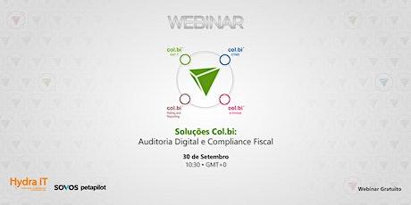 Webinar | Soluções Col.bi – Auditoria Digital e Compliance Fiscal ingressos
