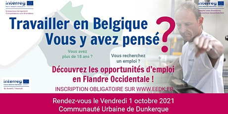 """Forum transfrontalier """"Travailler en Belgique, vous y avez pensé?""""  2021 billets"""