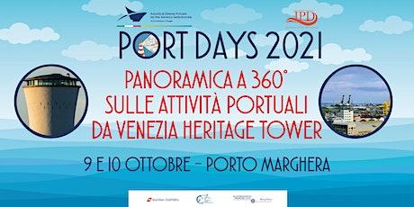 Panoramica a  360°  sulle attività portuali da Venezia Heritage Tower Tickets