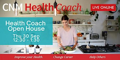 CNM Health Coach Open House  - Thursday 30th September 2021 (Online) tickets