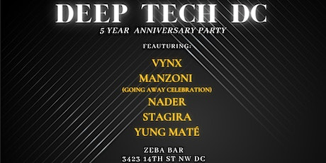 Deep Tech(no) DC - 5 Year Anniversary Party tickets
