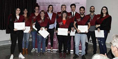 Graduació de Titulats/des del Màster Oficial en Arxivística UAB entradas