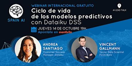Webinar (Lead Talk): Ciclo de vida de los modelos predictivos con Dataiku entradas
