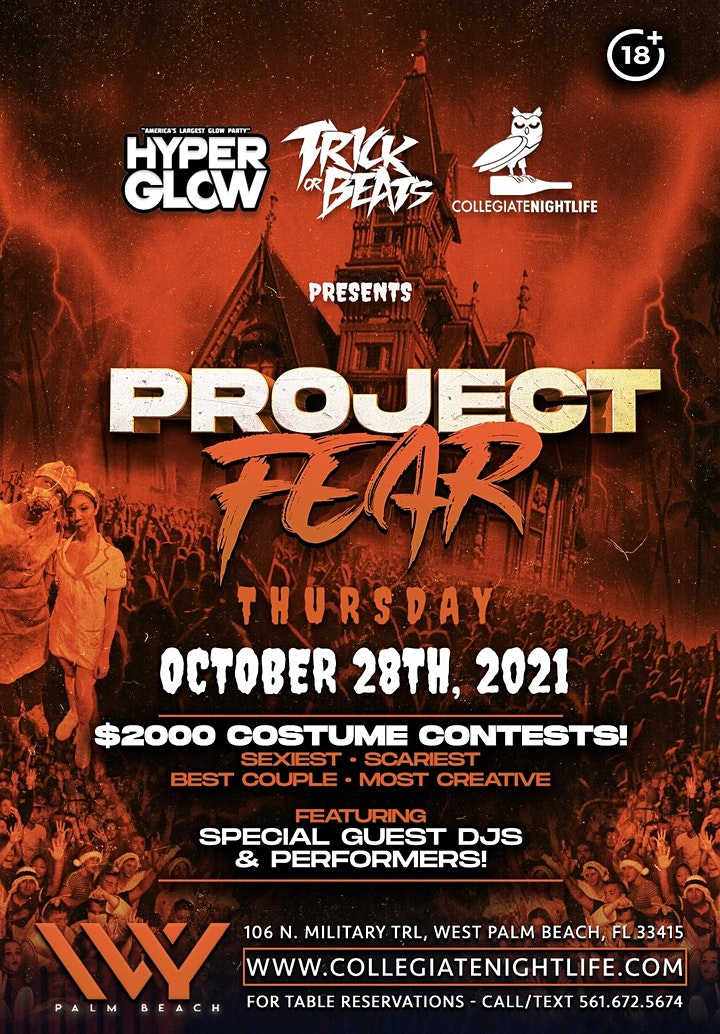 PROJECT FEAR @ IVY WPB | THURSDAY 10/28 image