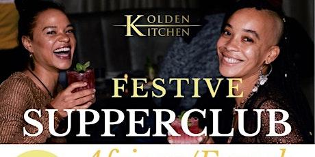 Supperclub: Festive 7-course menu, 5th November 2021 tickets