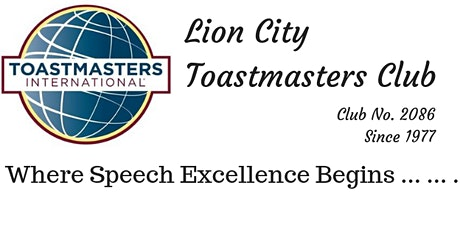 Lion City Toastmasters Club - Chapter Meeting (F2F) tickets