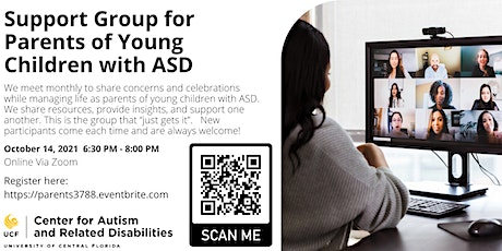 Support Group for Parents of Young Children with ASD #3788 tickets