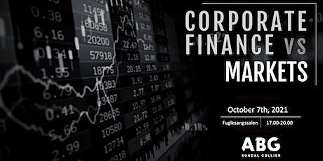Corporate Finance VS Markets tickets