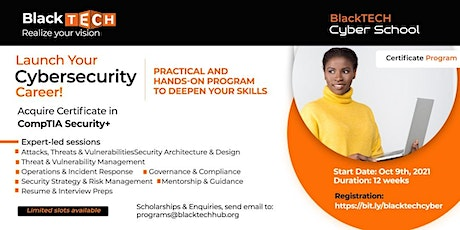 Launch Your  Cybersecurity Career - 12 Weeks Incubation tickets