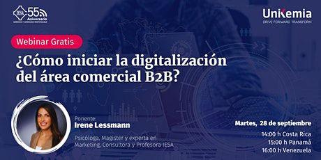 Webinar: ¿Cómo iniciar la digitalización del área comercial B2B? entradas