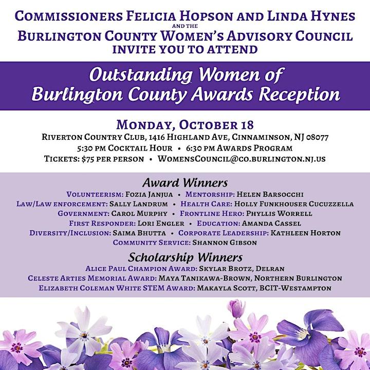 2021 Outstanding Women of Burlington County Awards Reception image